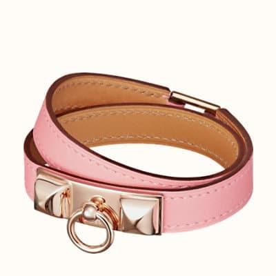 Bracelet Rivale Double Tour en Rose Sakura