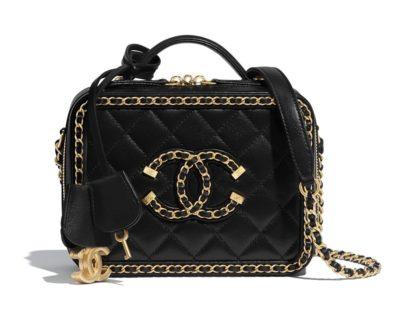 Vanity Case Chanel chèvre & métal doré