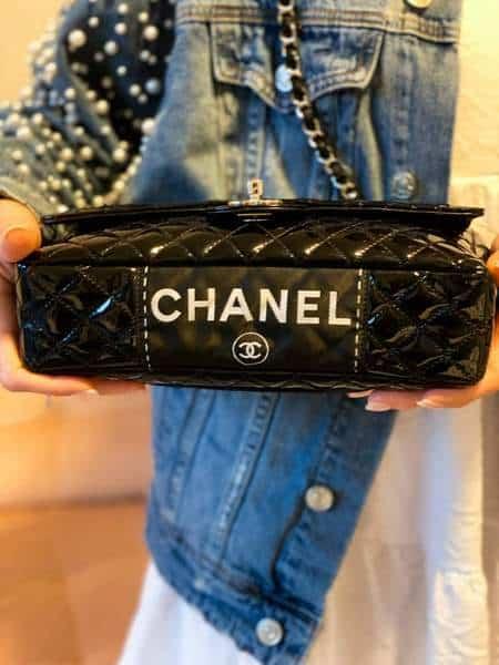 Sac Chanel d'occasion avec étiquette secrète