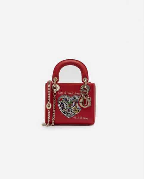Sac Dior Lady Mini Calf rouge