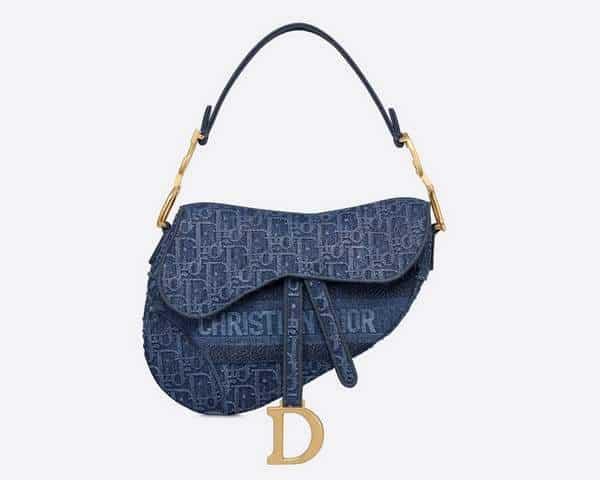 Sac Saddle Dior en toile de jean