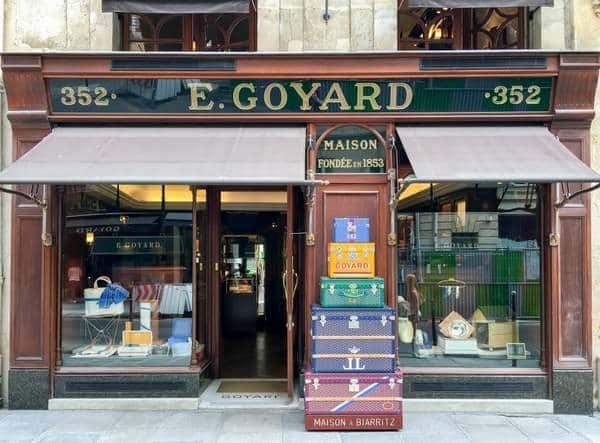 une boutique Goyard à Paris, France