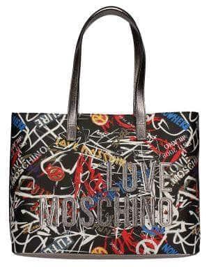 Fourre-tout Moschino LOVE Graffittii pour femmes