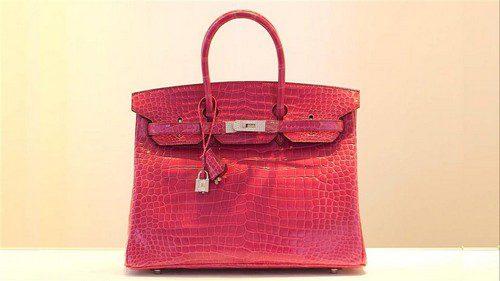 Sacs à main les plus chers - Fuchsia Diamond - Hermès clouté Birkin
