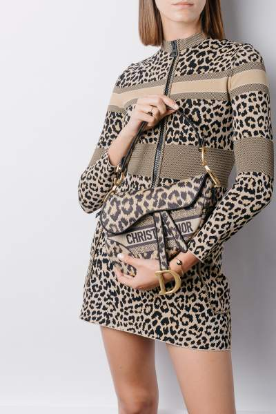 Dior Saddle bag collection Dior Mizza Leopard Print