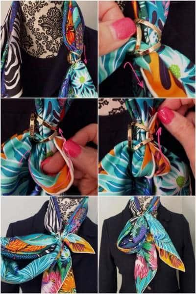 Comment nouer un foulard Hermes