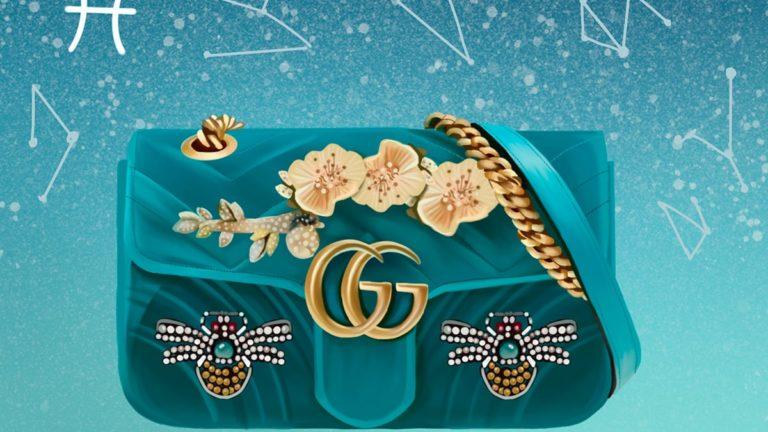 Un sac fantaisiste et romantique pour la rêveuse qui est en vous avec ce sac à main à ornements Gucci Marmont Poisson
