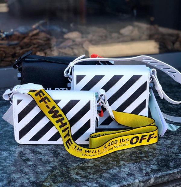 OFF White Striped Logo