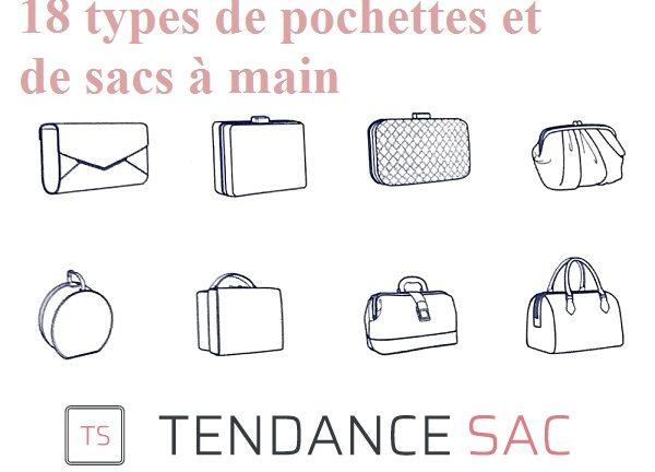 18 types de pochettes et de sacs à main