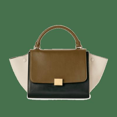Sur la photo : Le sac à main trapèze de Céline