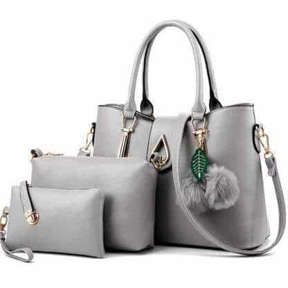sac à main gris