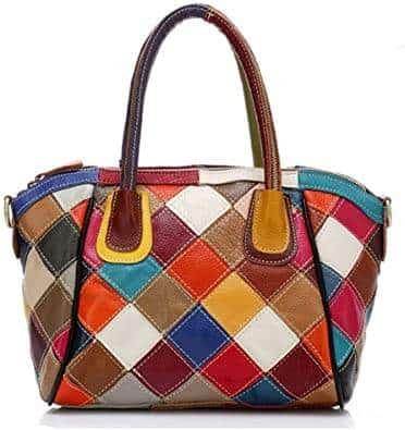 sac à main multicolore