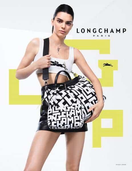 Le top model Kendall Jenner pour Longchamp
