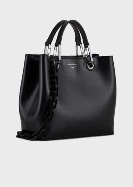 Sac MyEA Bag porté épaule en cuir brillant